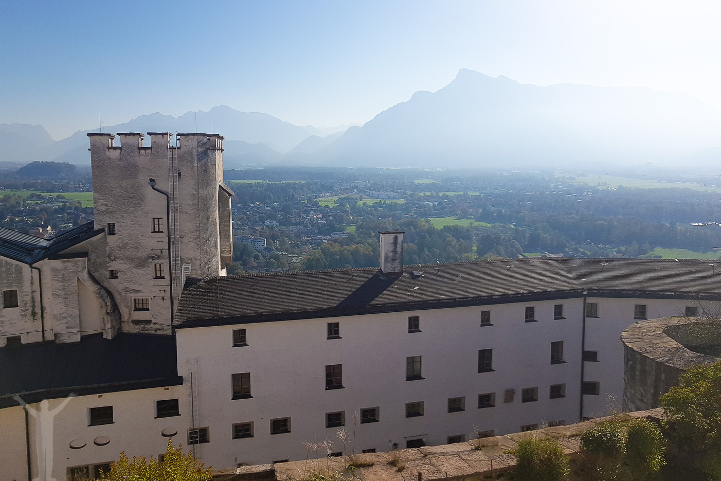 Alputsikt på Hohensalzburg