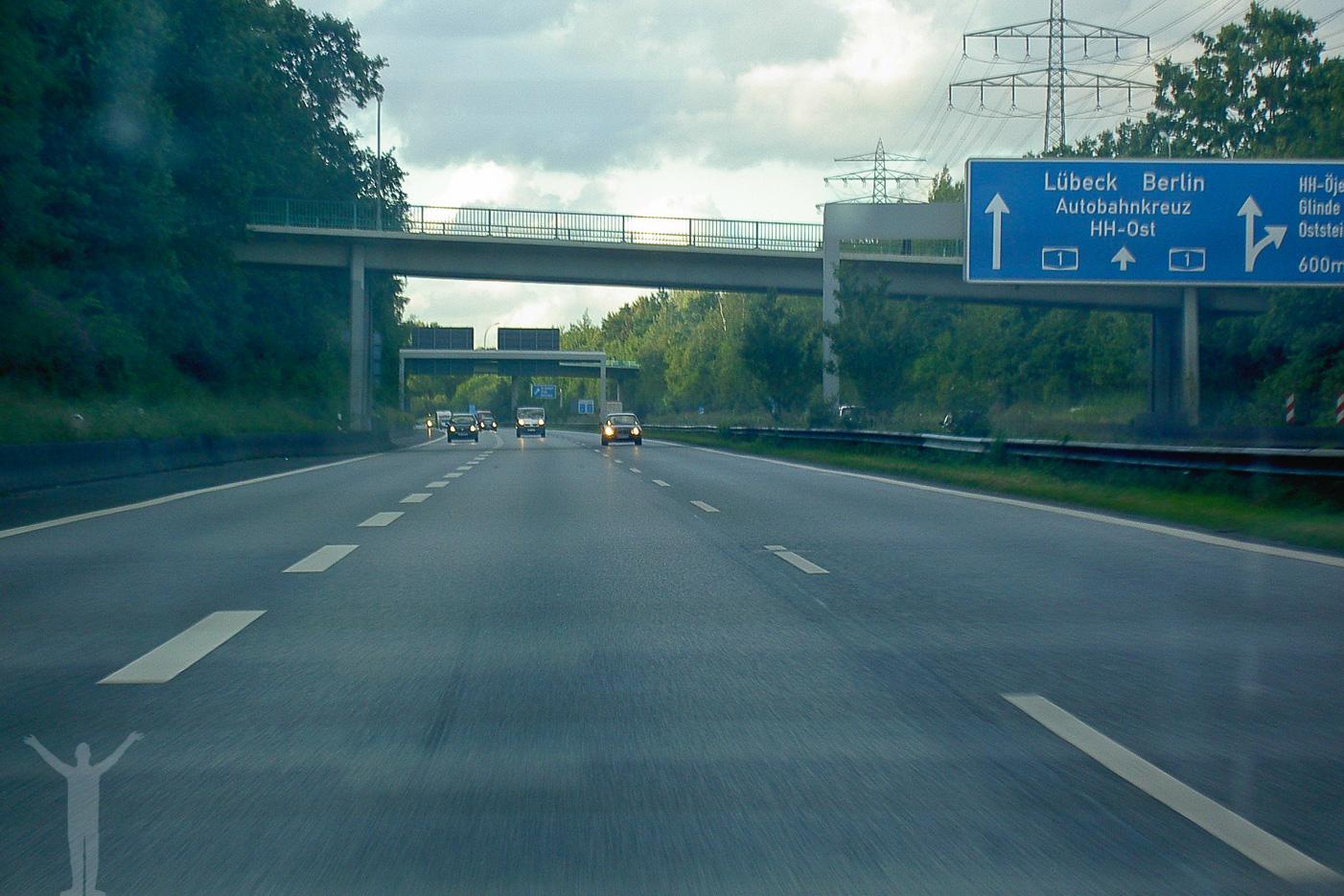 Autobahn genom Tyskland