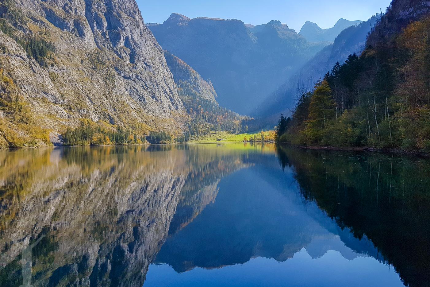En vindstilla Obersee
