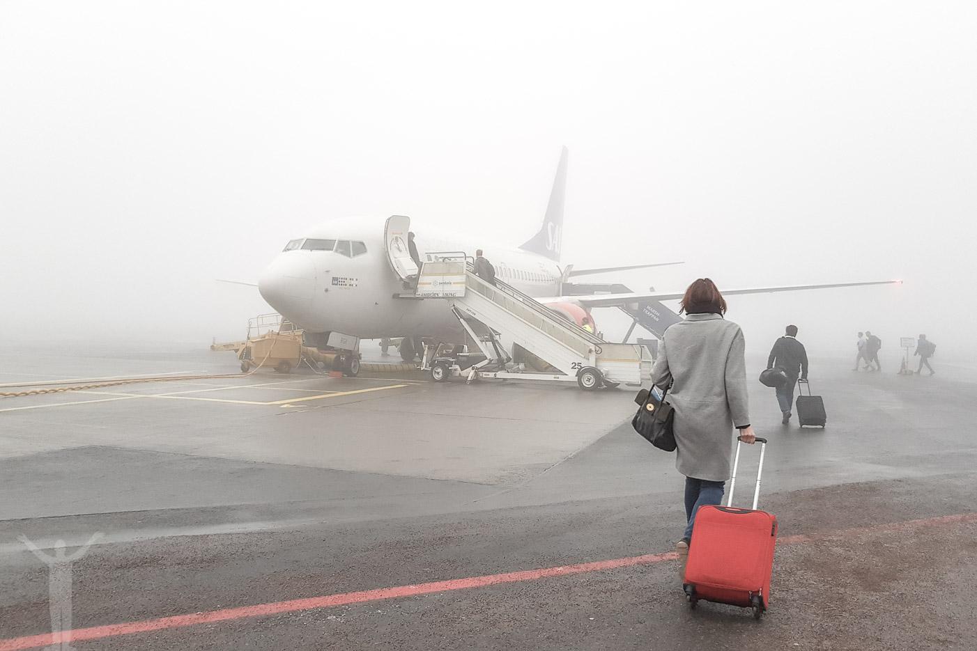 Dimma på Åre Östersund Airport
