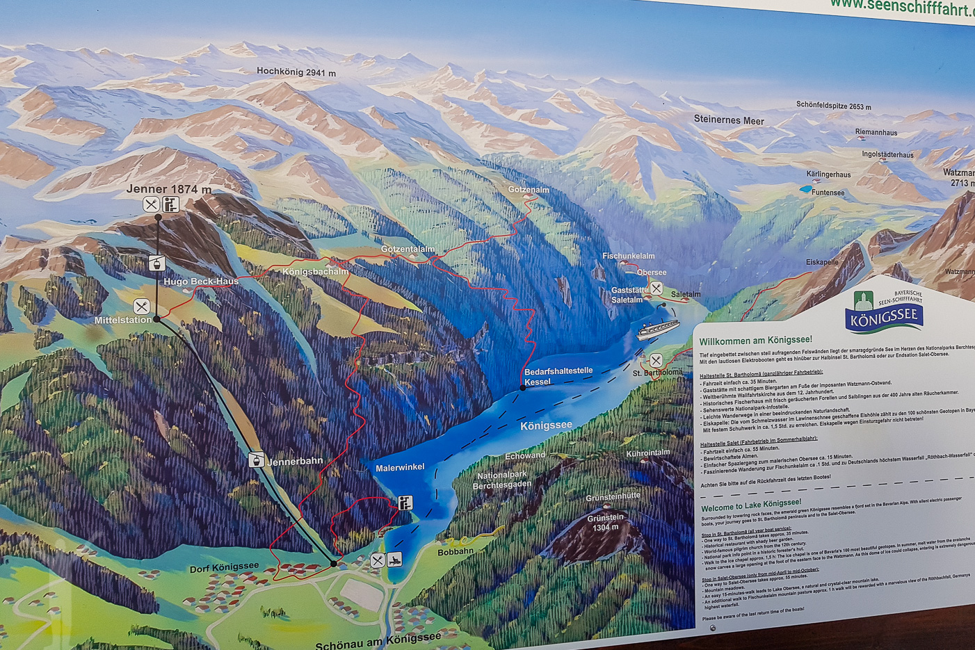 Karta över delar av Berchtesgaden.