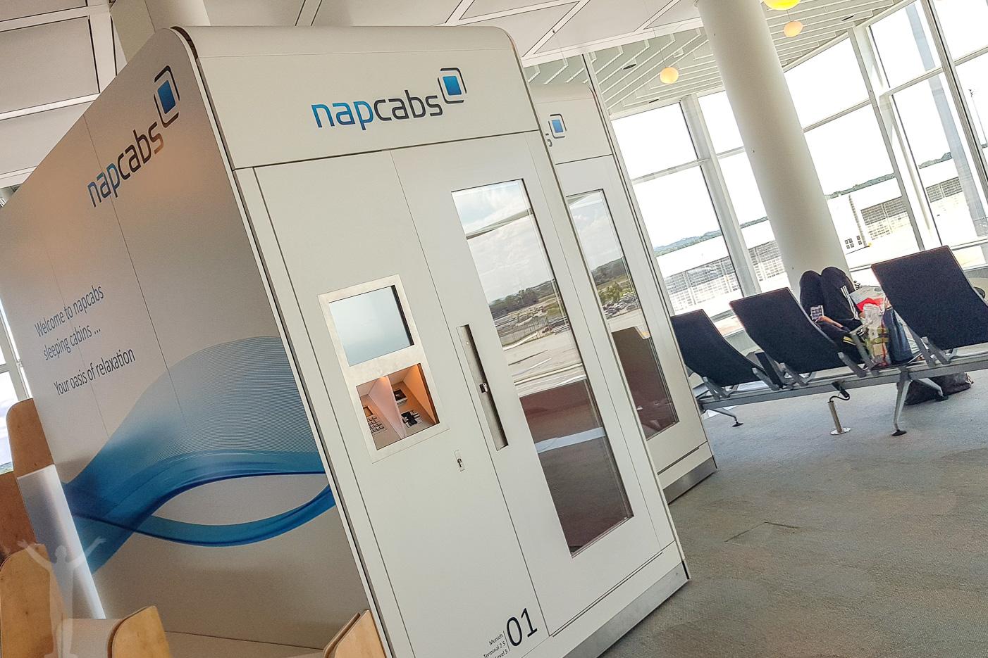 Napcabs på flygplatsen i München