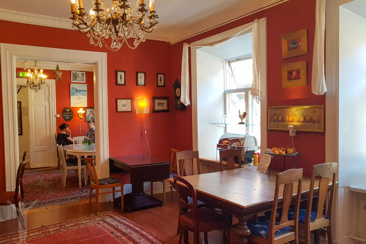 Sekelgården i Ystad - middagsrummet