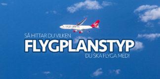Vilken flygplanstyp blir det?