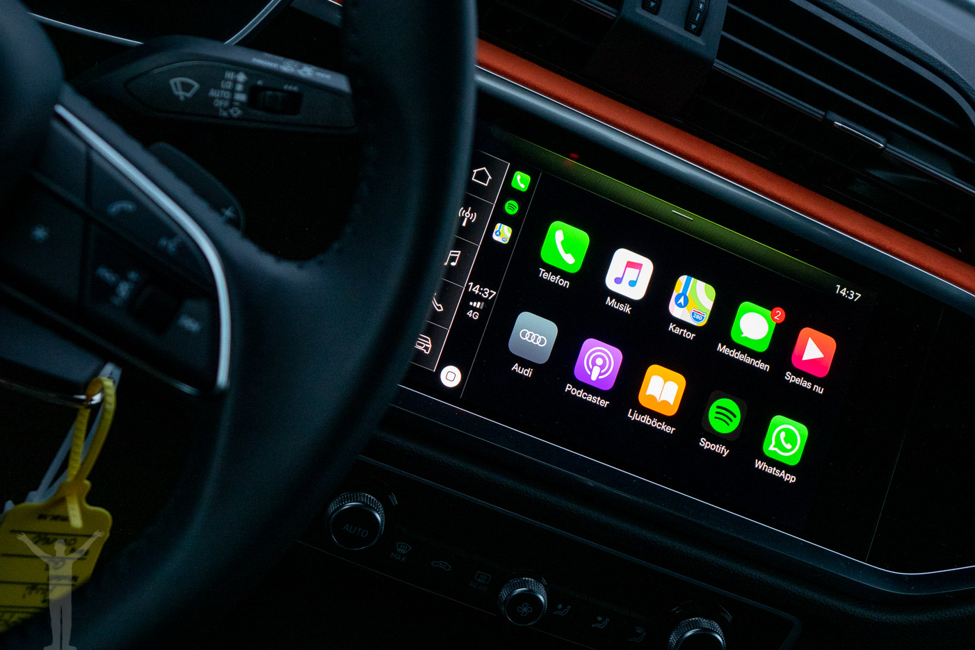 Apple CarPlay i Audi Q3 2019