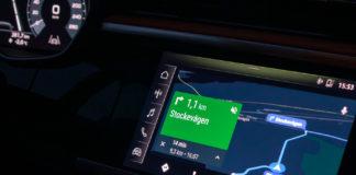 Google Maps i Android Auto på svenska