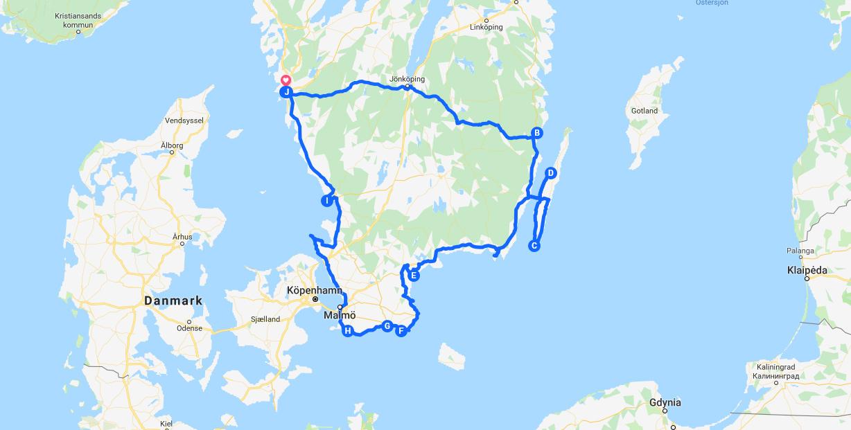 Roadtrip i södra Sverige - hemester