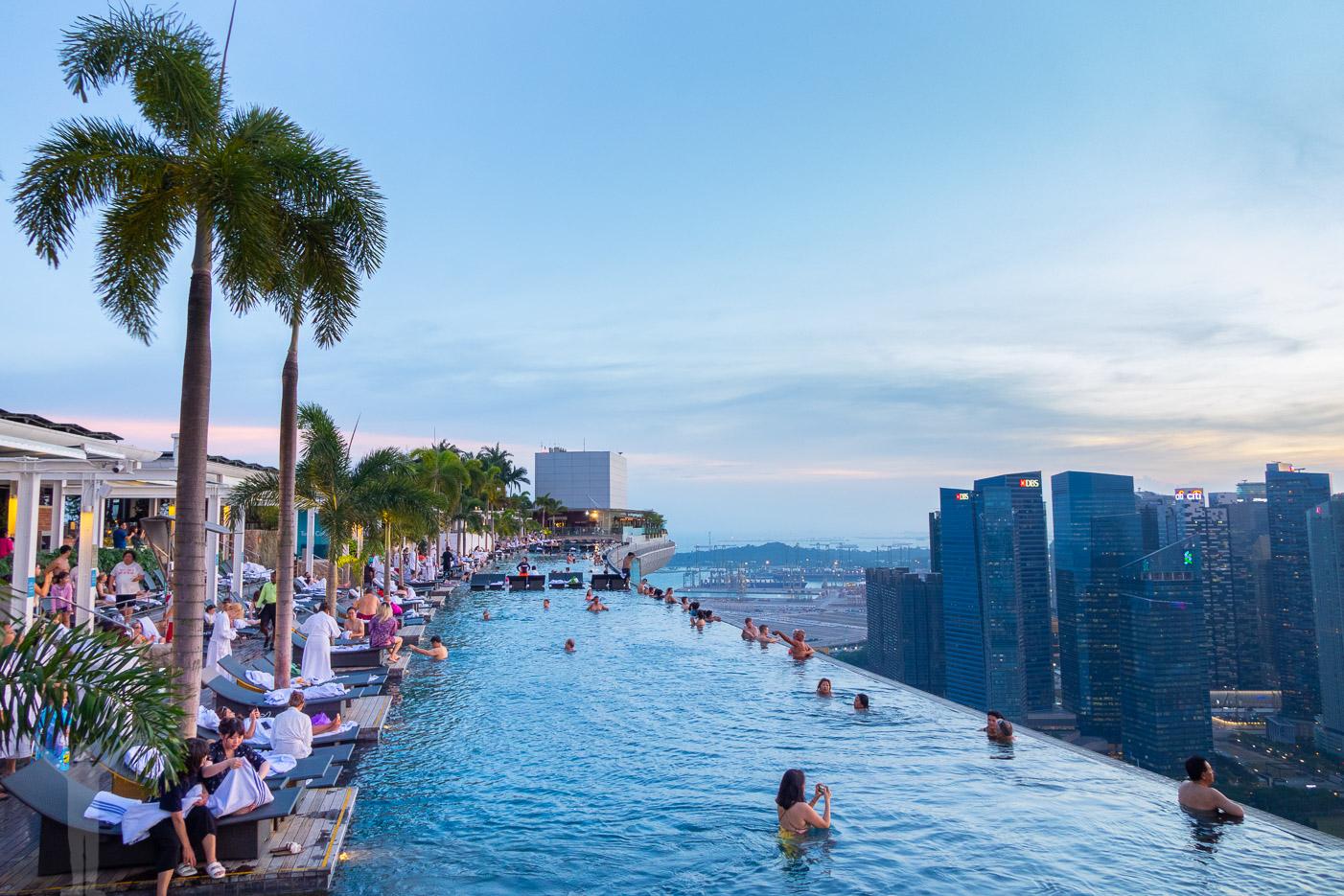 Infinitypoolen på Marina Bay Sands