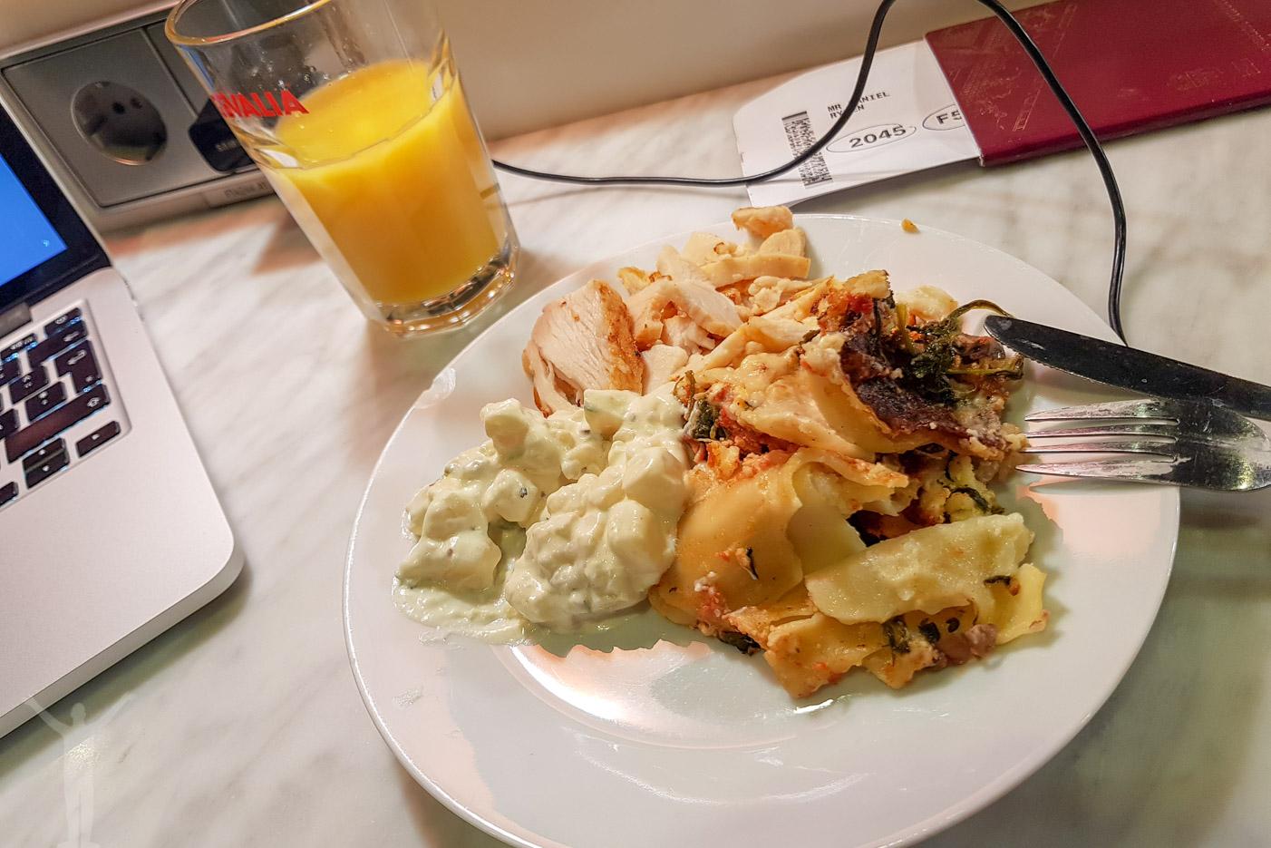 Mat på Stockholm Arlanda Lounge