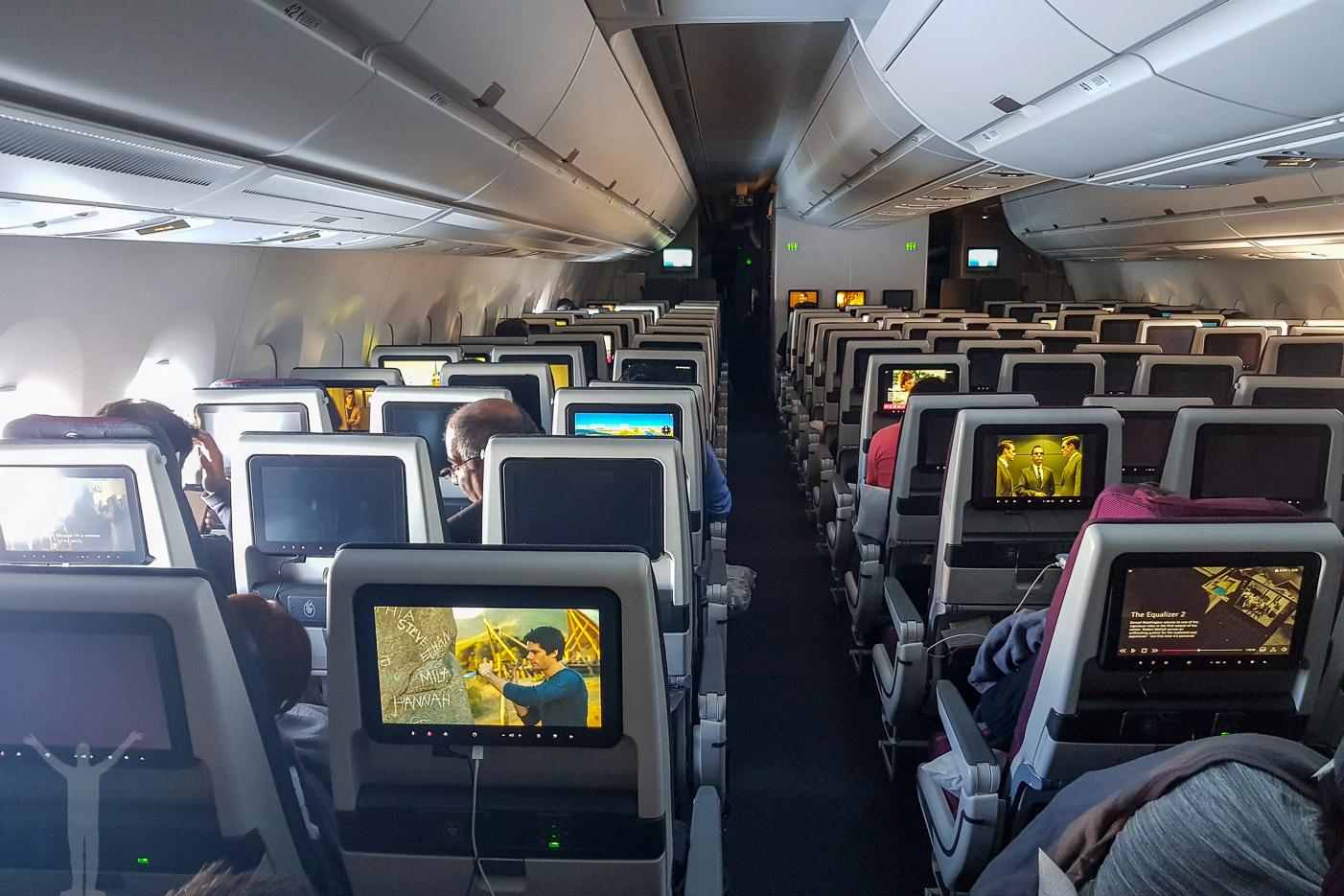 A350 Qatar Airways ekonomiklass