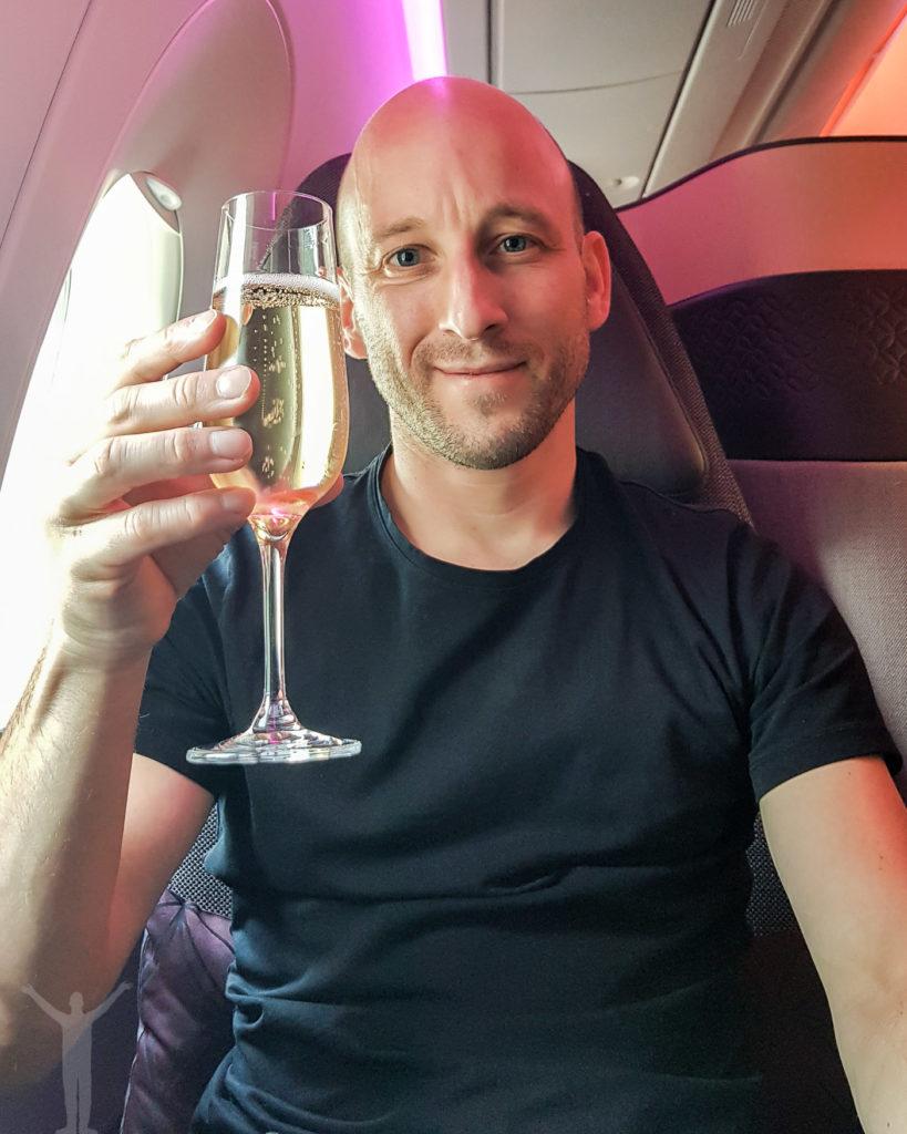 Champagne i Qsuite