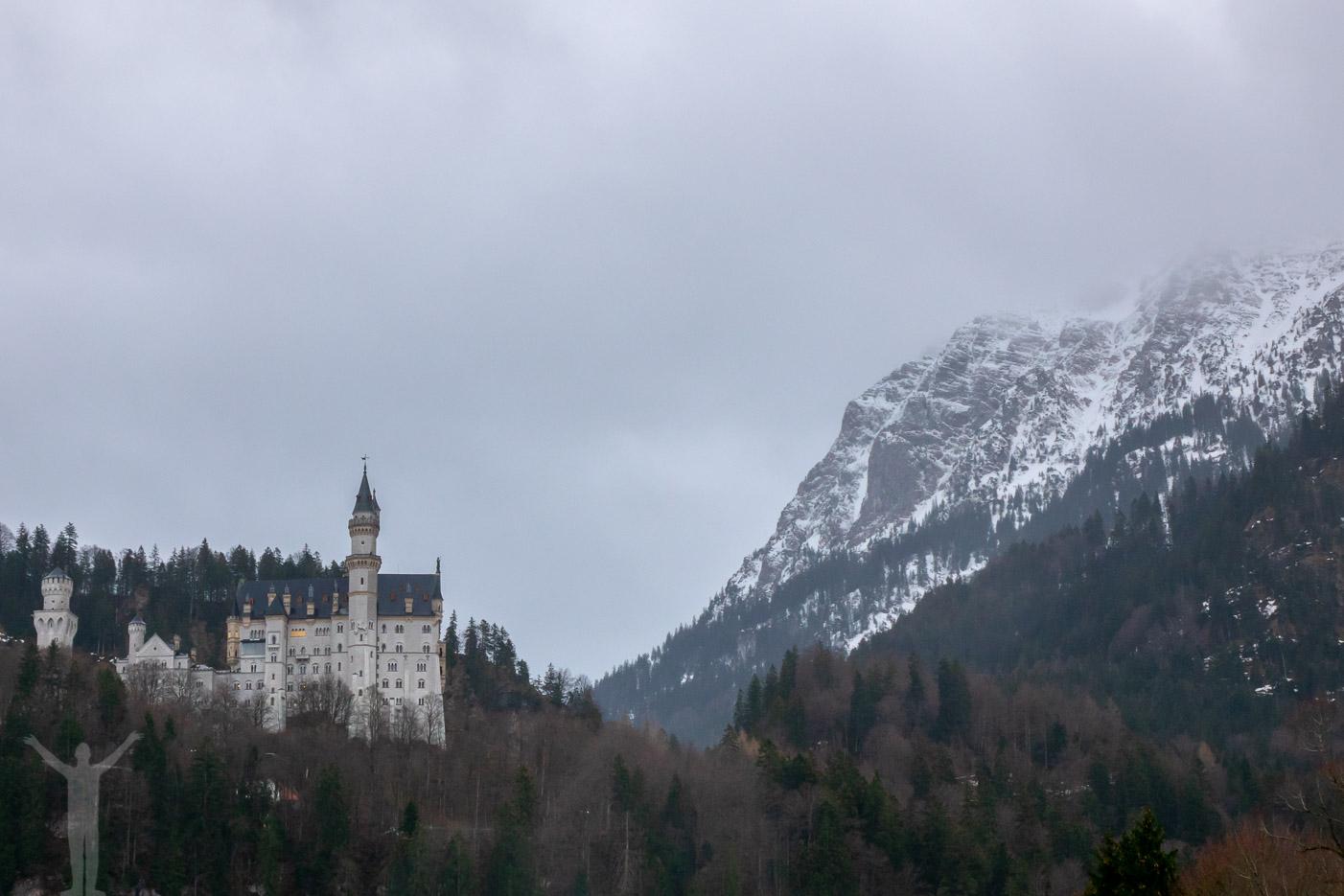 Neuschwanstein, på gränsen till Österrike
