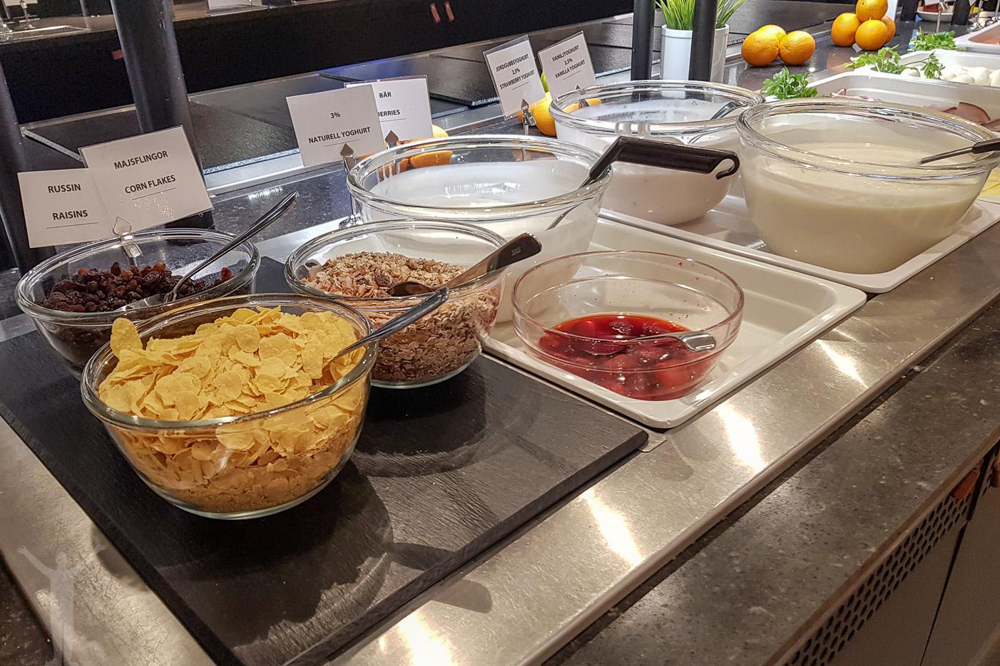 Frukost i SAS Lounge på Arlanda