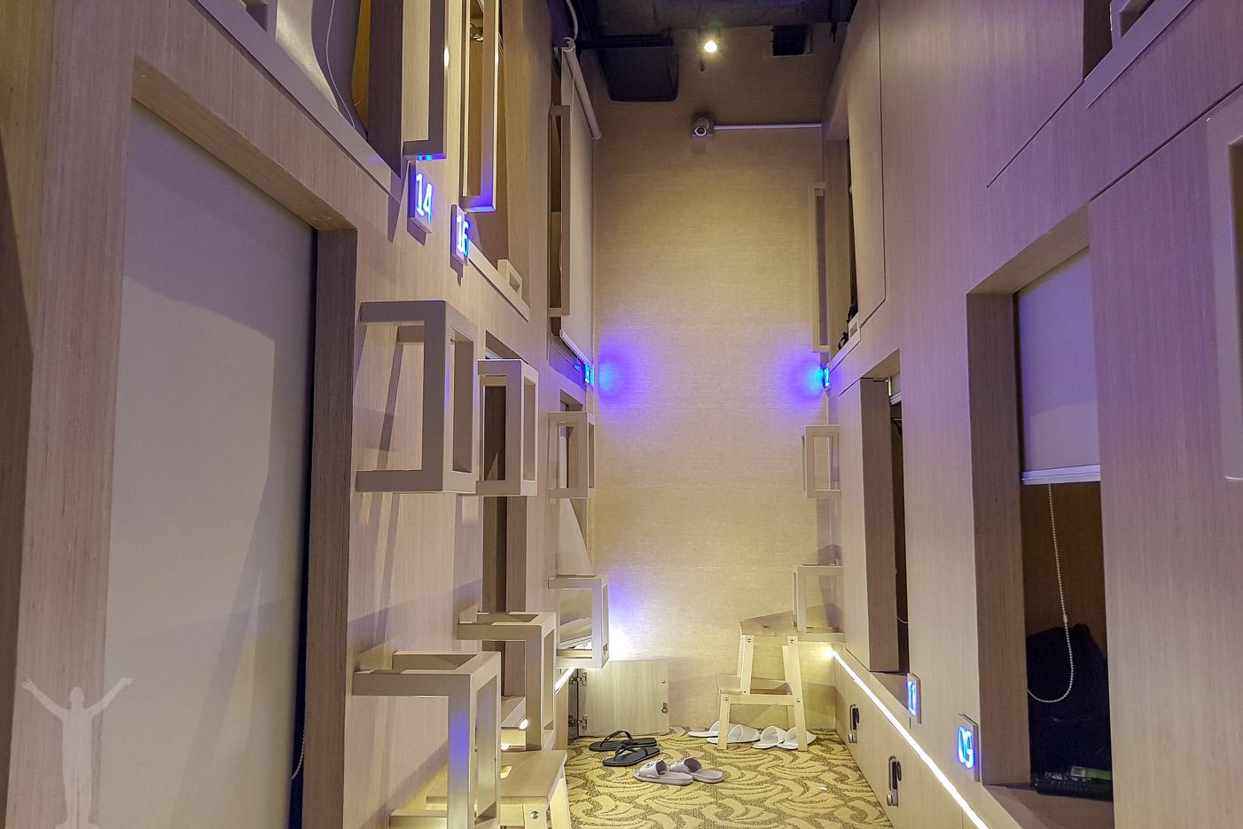Kapselhotell i Singapore