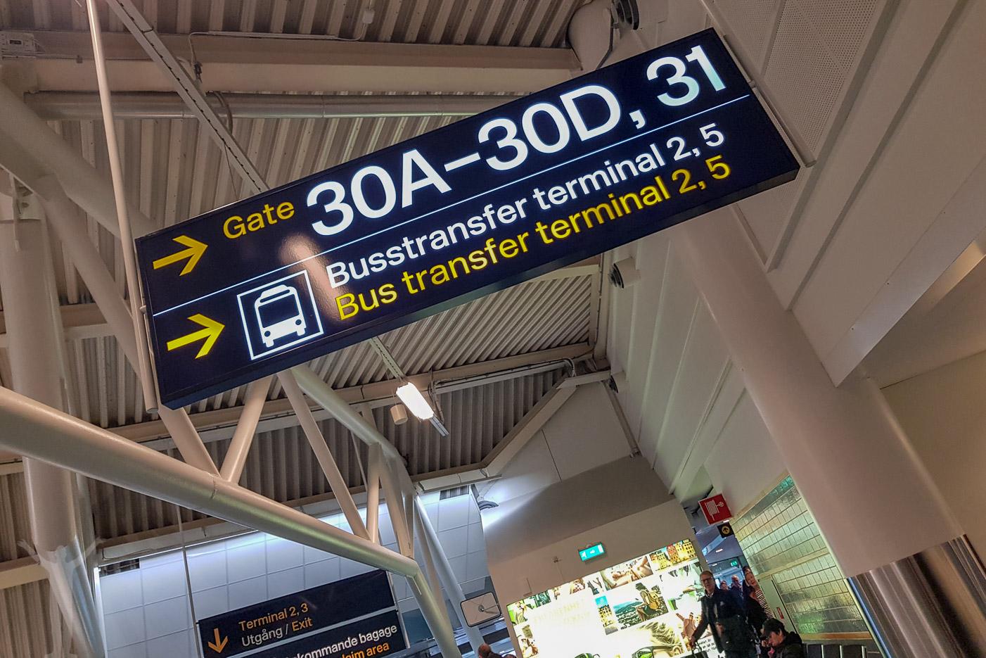 Busstransfer på Arlanda - gate 30D