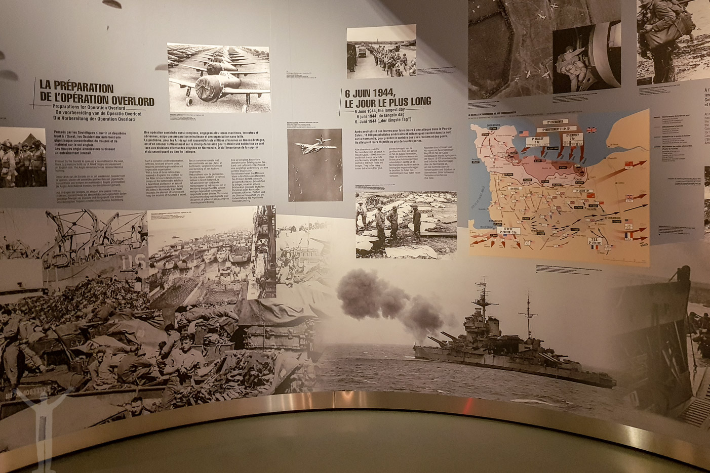 En av muséets alla kartor