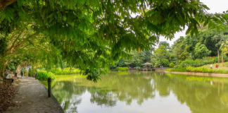 Vandra längs vattendrag och dammar