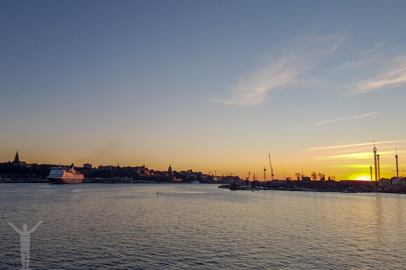 Skymning över Stockholm