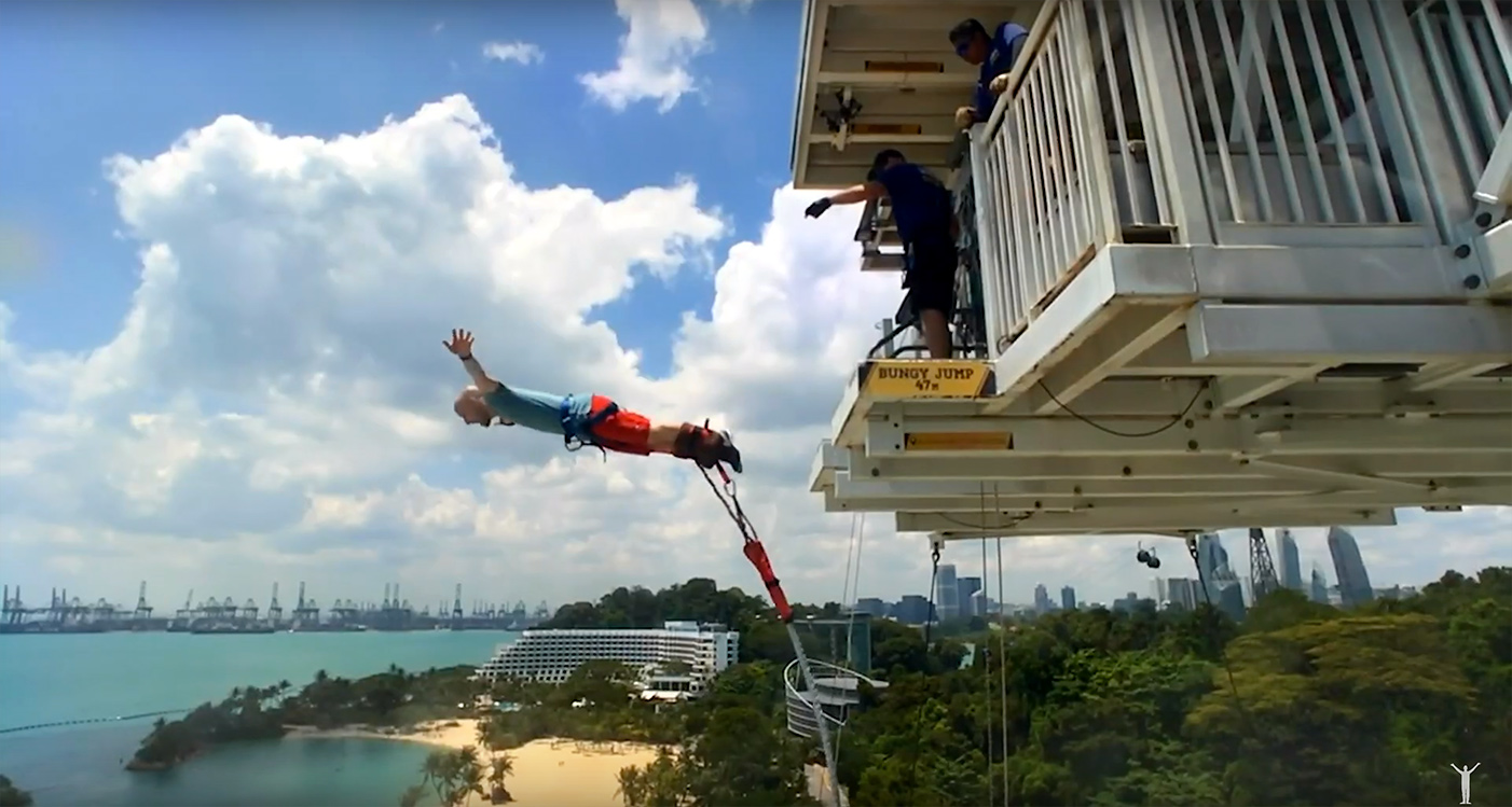 Bungyjump i Singapore