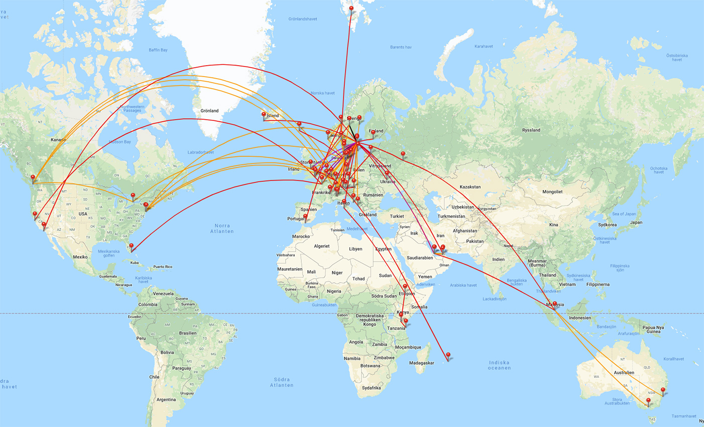 Logga flygresorna med myflightradar24