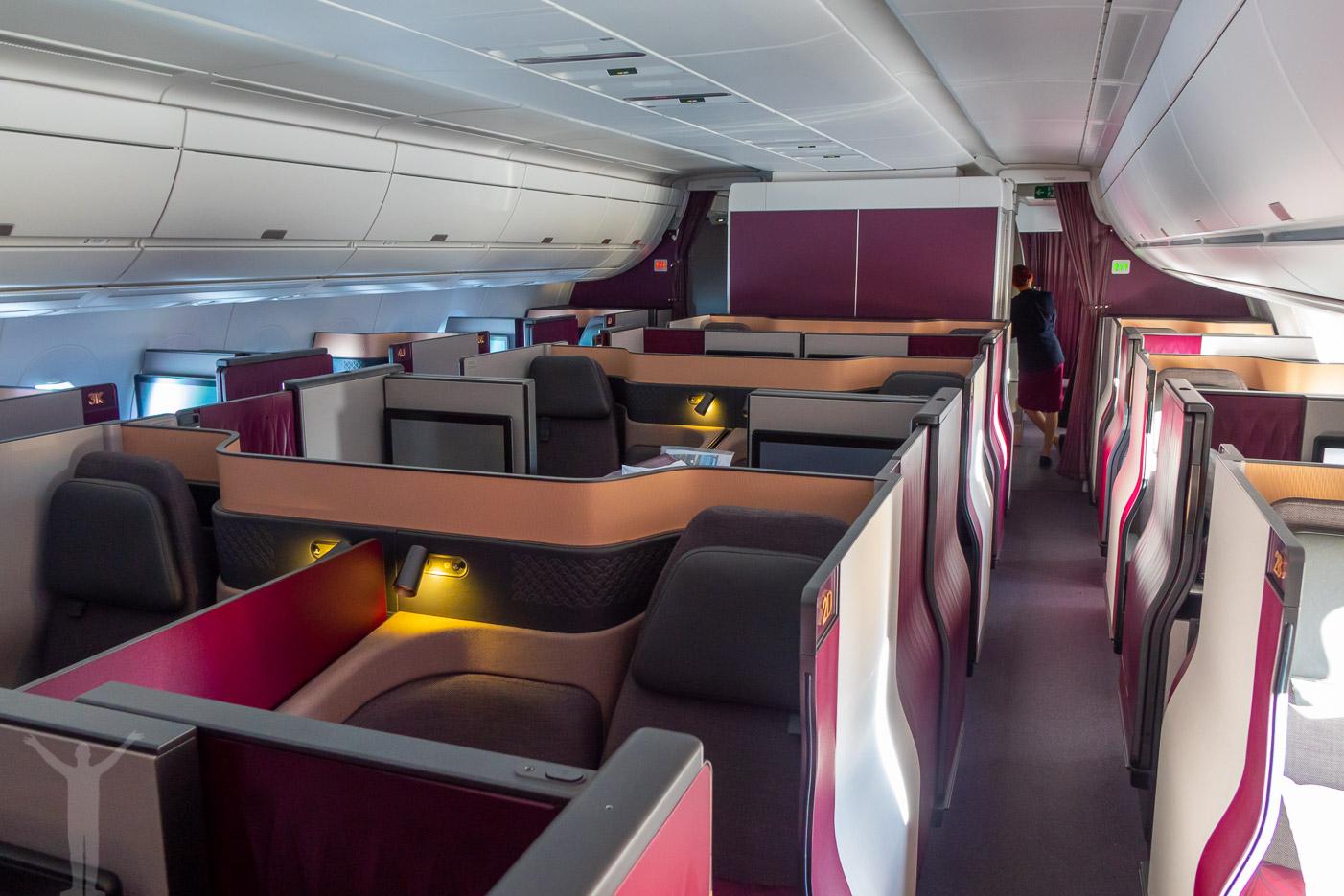 Qsuite på Qatar A350