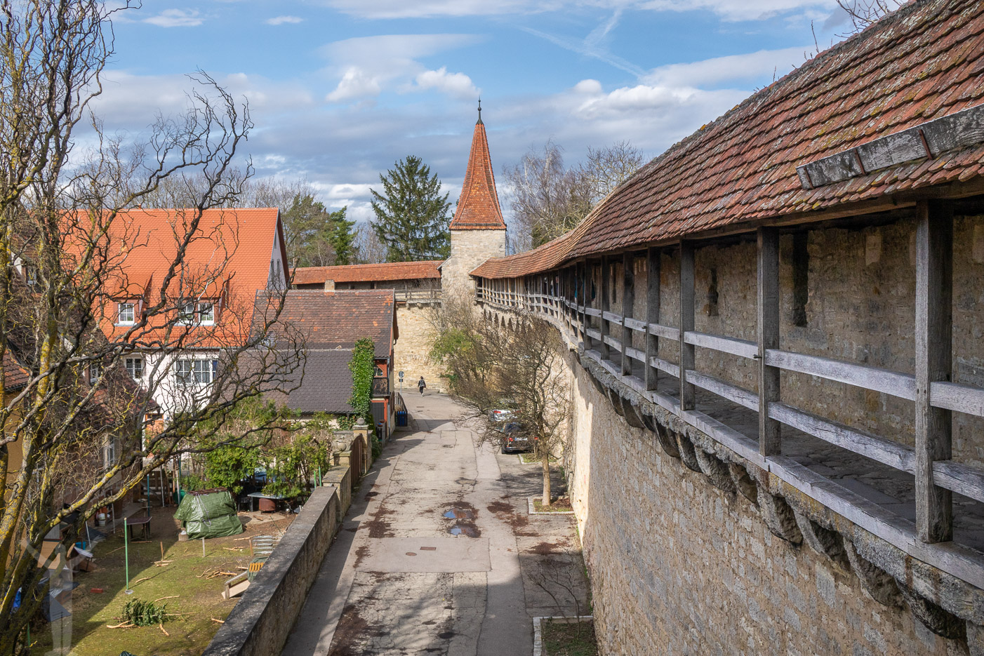 Ringmuren i Rothenburg