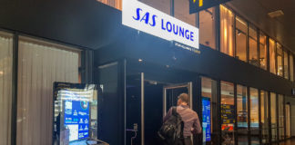 Entrén till SAS Lounge i Köpenhamn