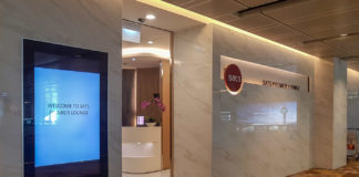 Entrén till Sats Premier Lounge på Changi