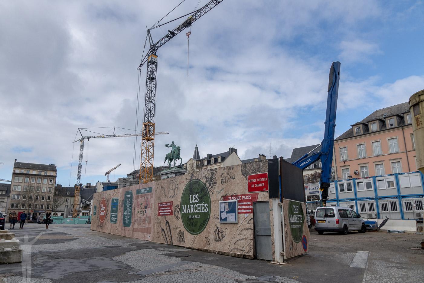 Byggarbetsplats i Luxemburg