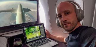 Arbetsplats på 40000 fot