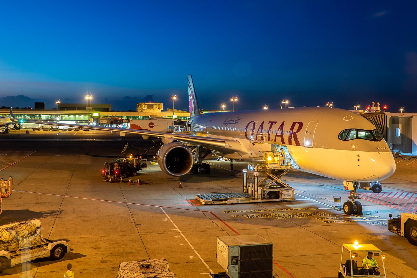 Qatar Airways A350-900, A7-ALY - i det här planet ska jag flyga Qsuite!