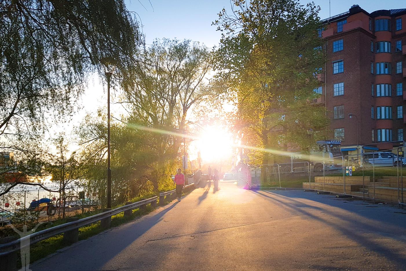 Solnedgång vid Hornstull