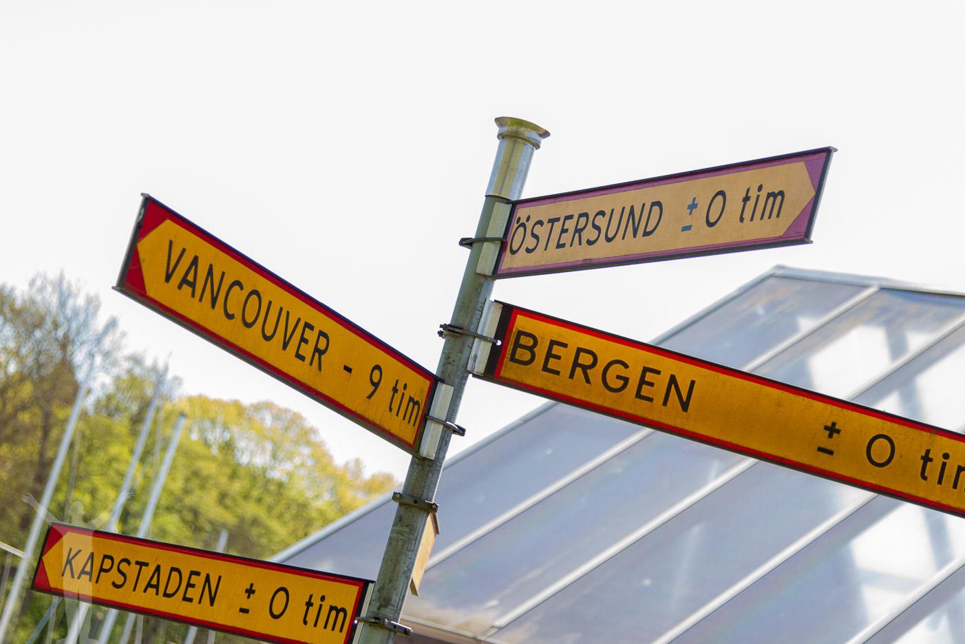 Bästa skylten - Östersund och Vancouver