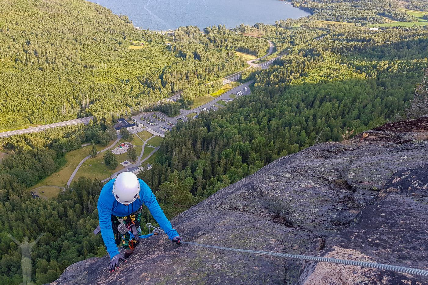 Sista biten att klättra på Skuleberget