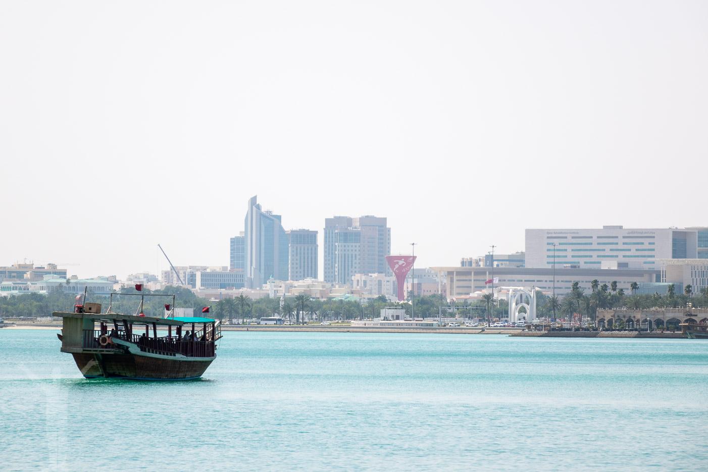 Båt i Doha, Qatar