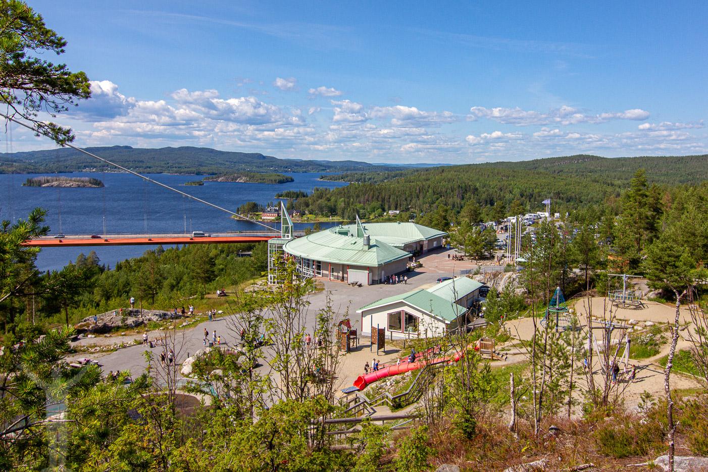 Hotell och rastplats vid höga Kusten-bron