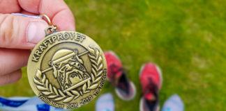 Post-race - medaljen från Kraftprovet i Trollhättan