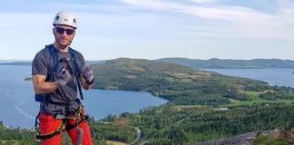 Toppen av gula leden på Skuleberget