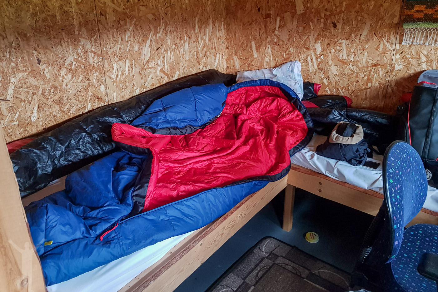 En enkel sovplats i gömslet
