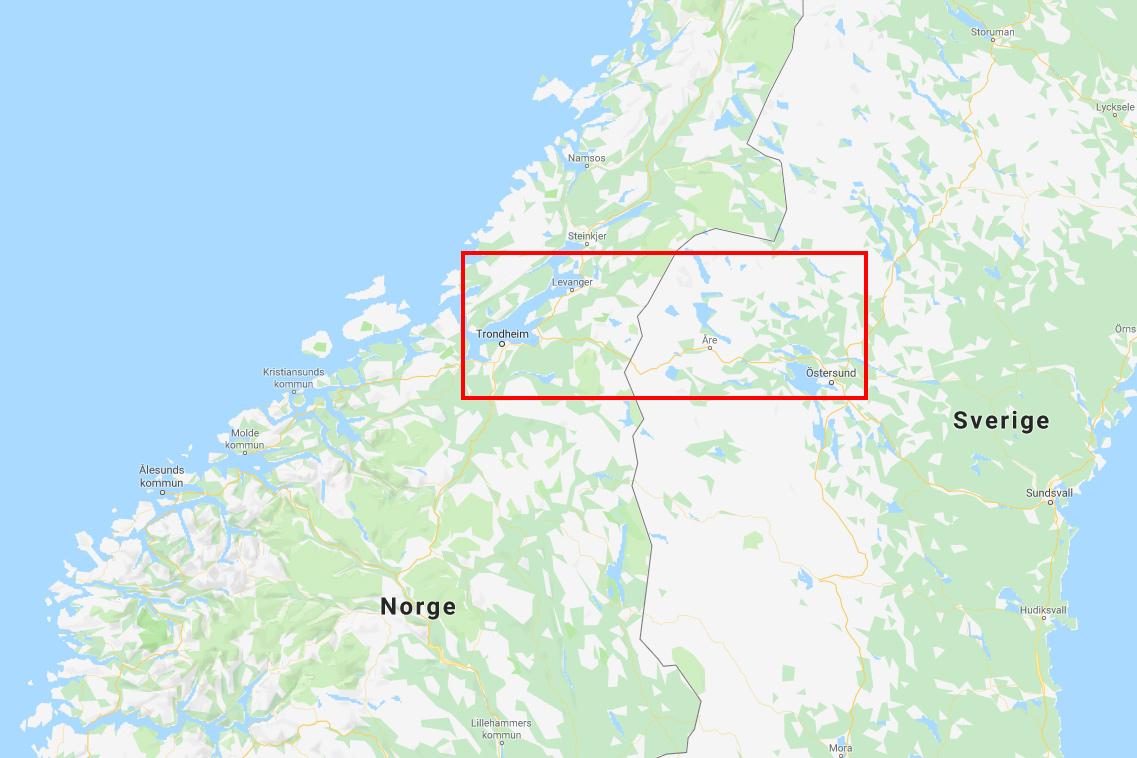 I det här området går St Olavsloppet