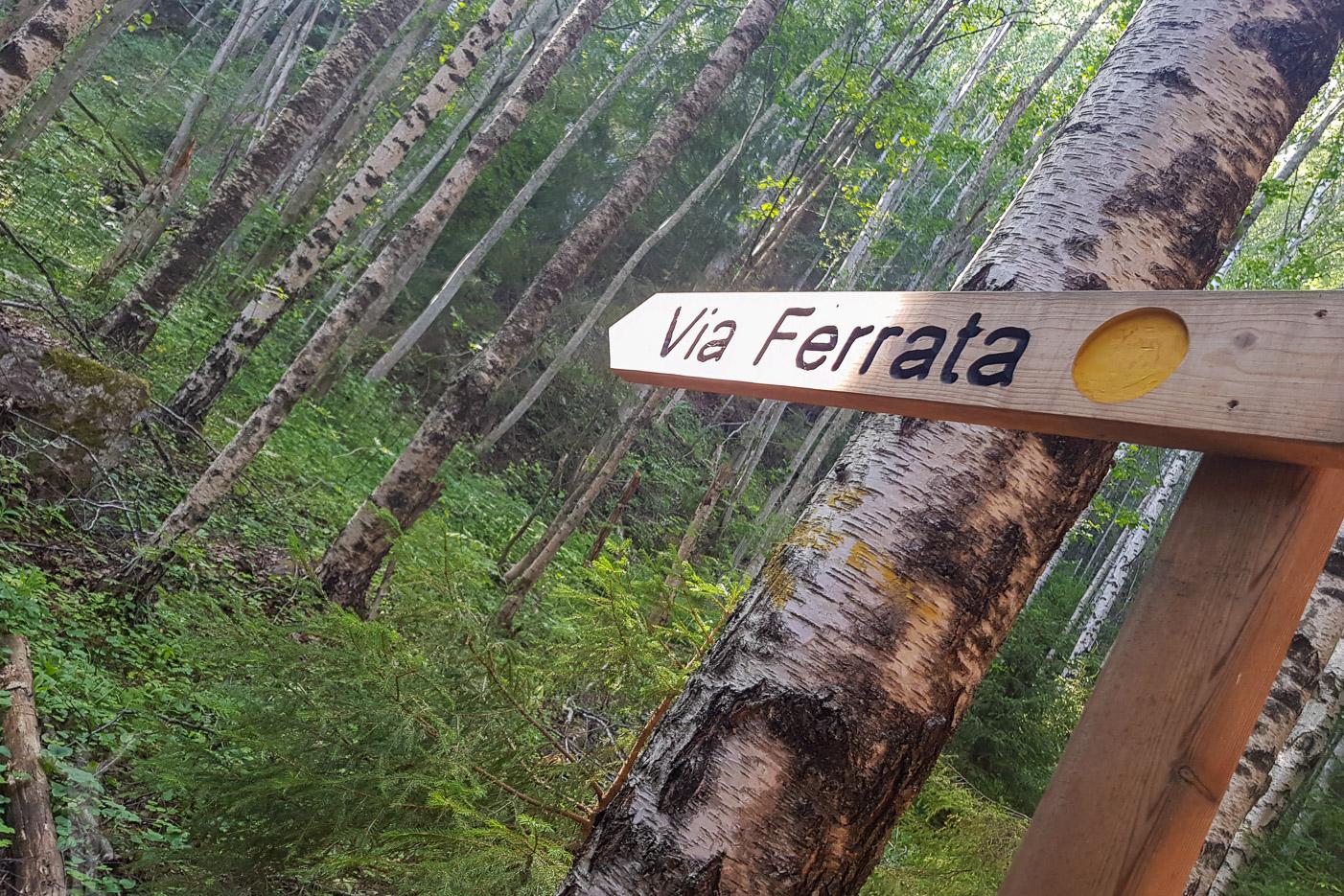 Via ferrata - gula leden om du ska klättra på Skuleberget