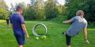 Footgolf på Lane Loge, hål 11