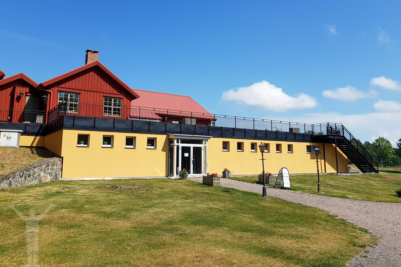 Klubbhuset på Läckö Golfbana