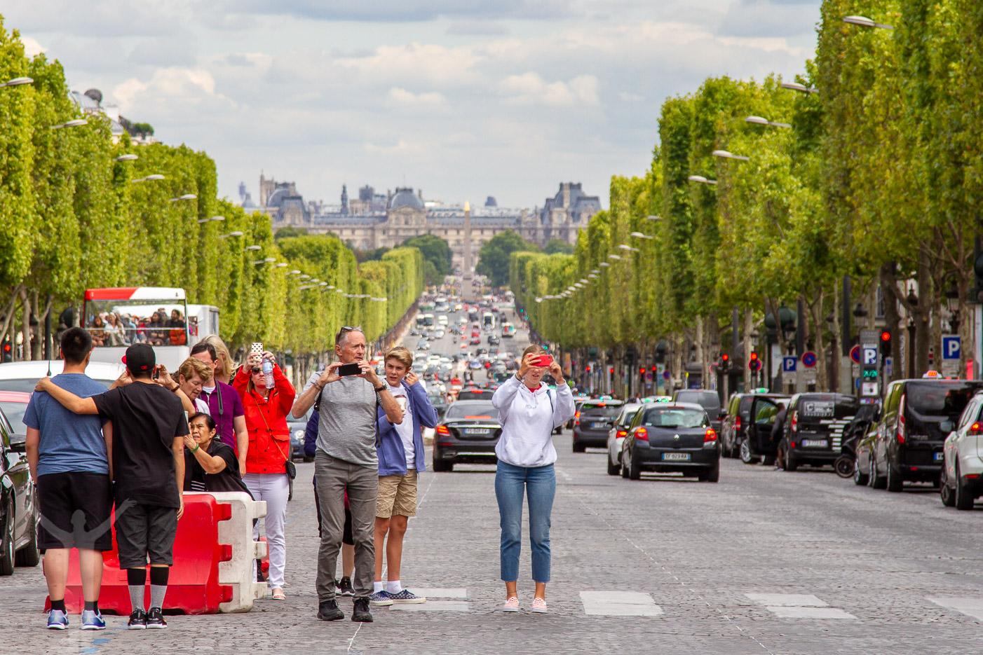 Turister i Paris