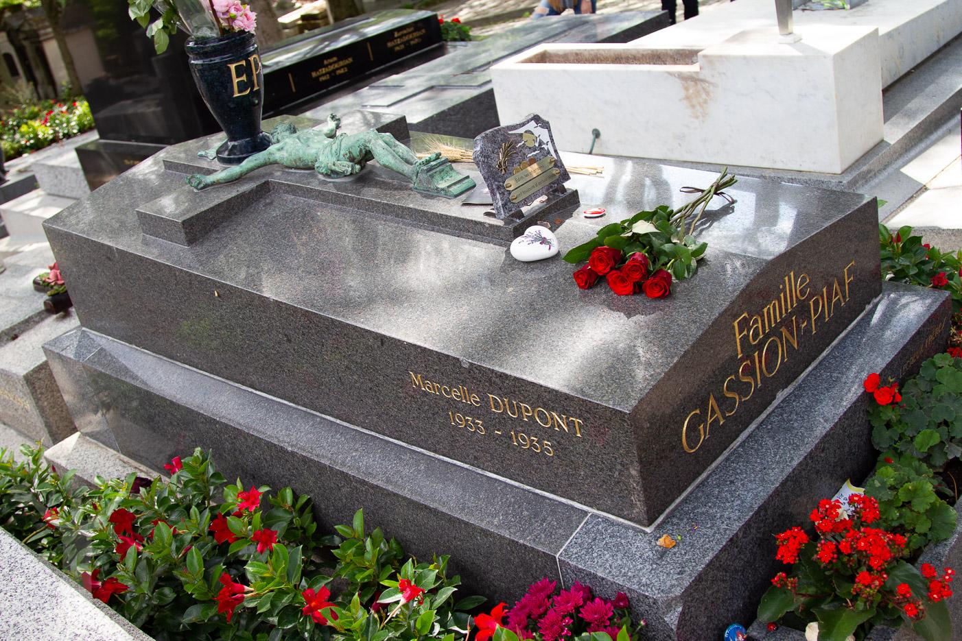 Edith Piaf på Pere-Lachaise