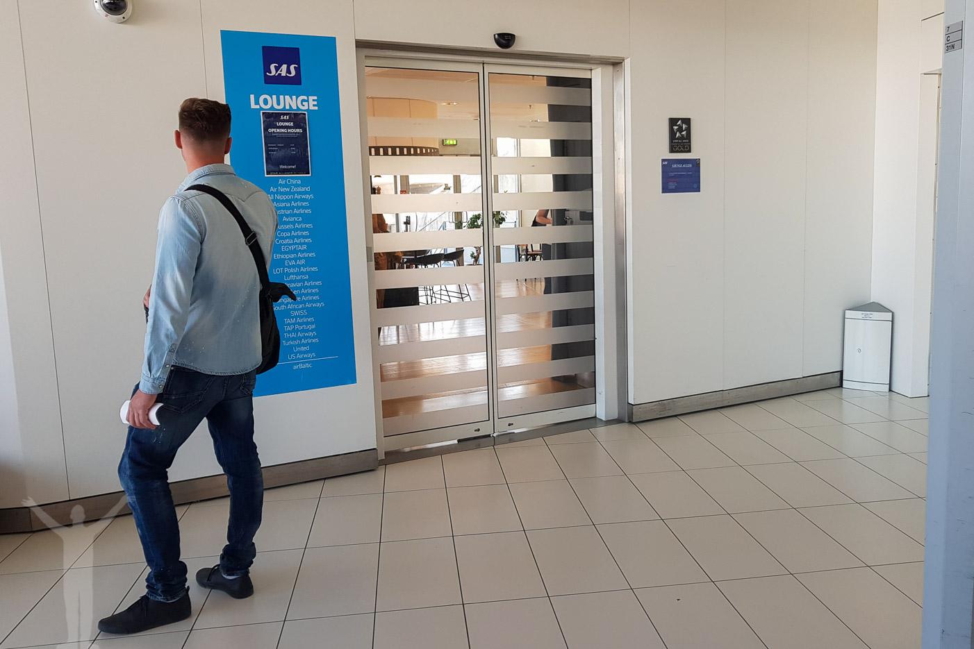 Entrén till SAS Lounge i Paris