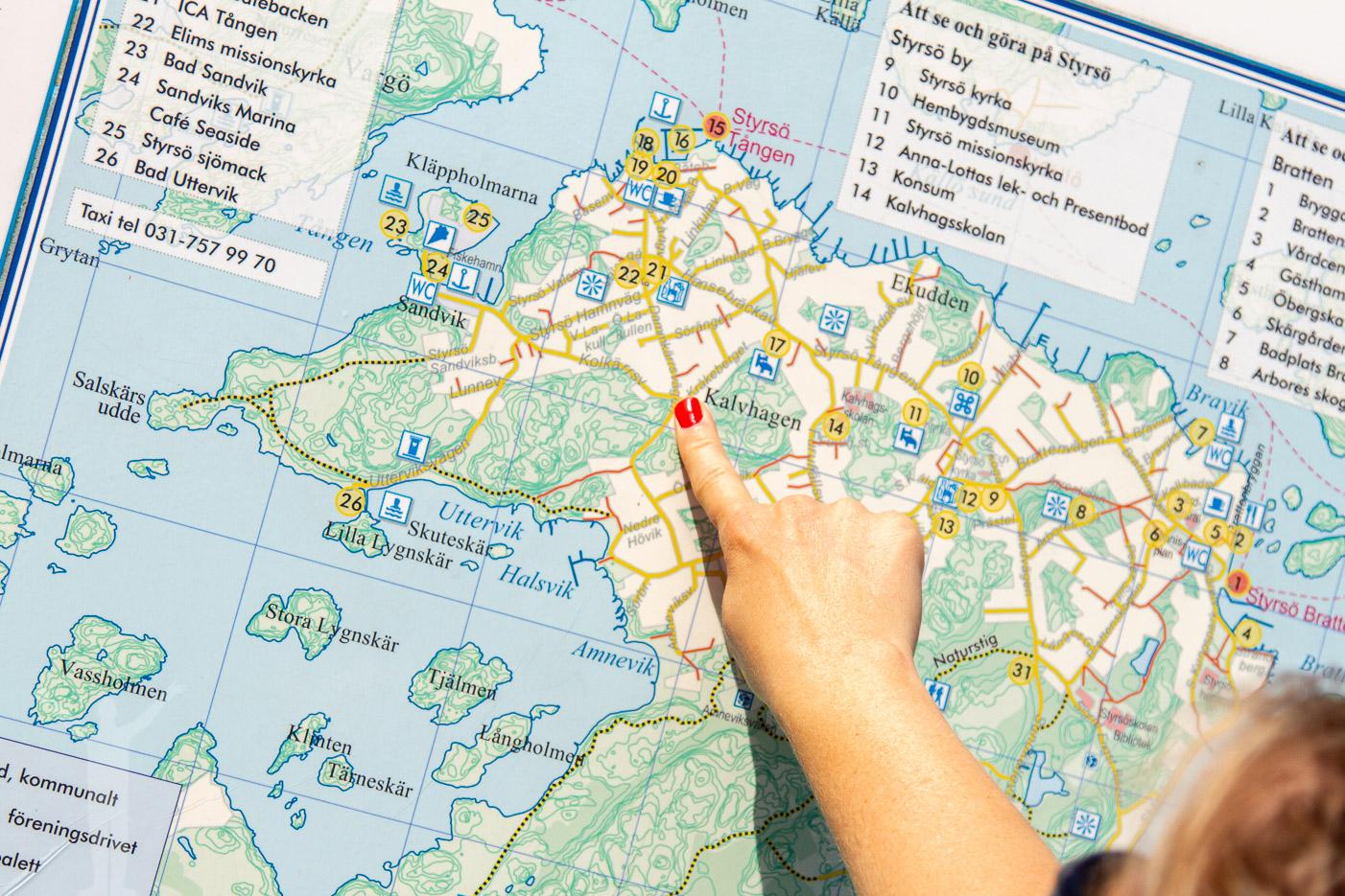 Karta över Styrsö