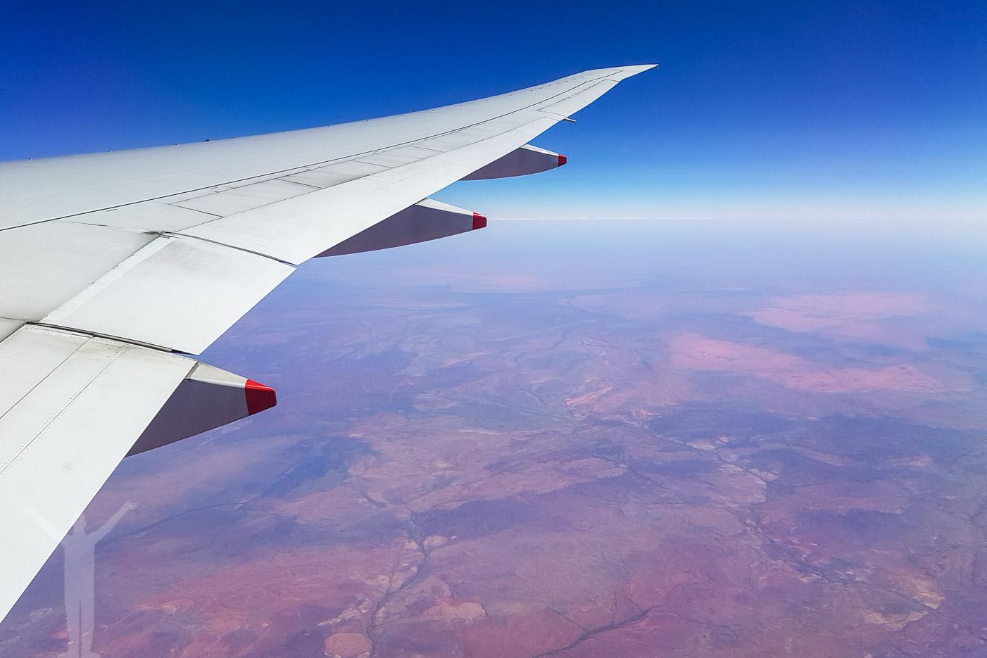Boeing 77W över Australien