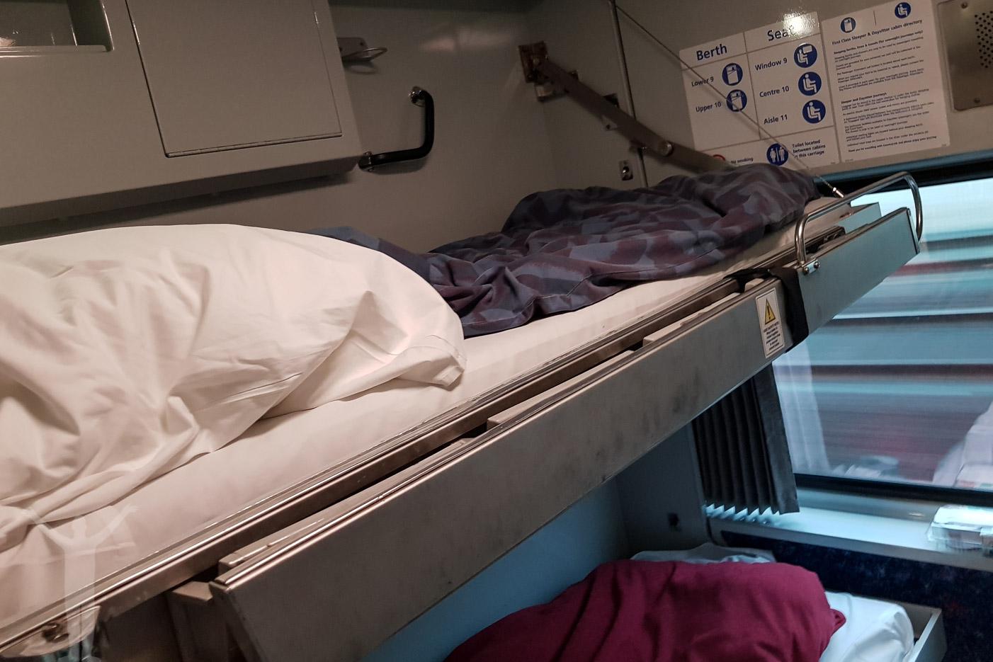Överslafen i sovvagnen