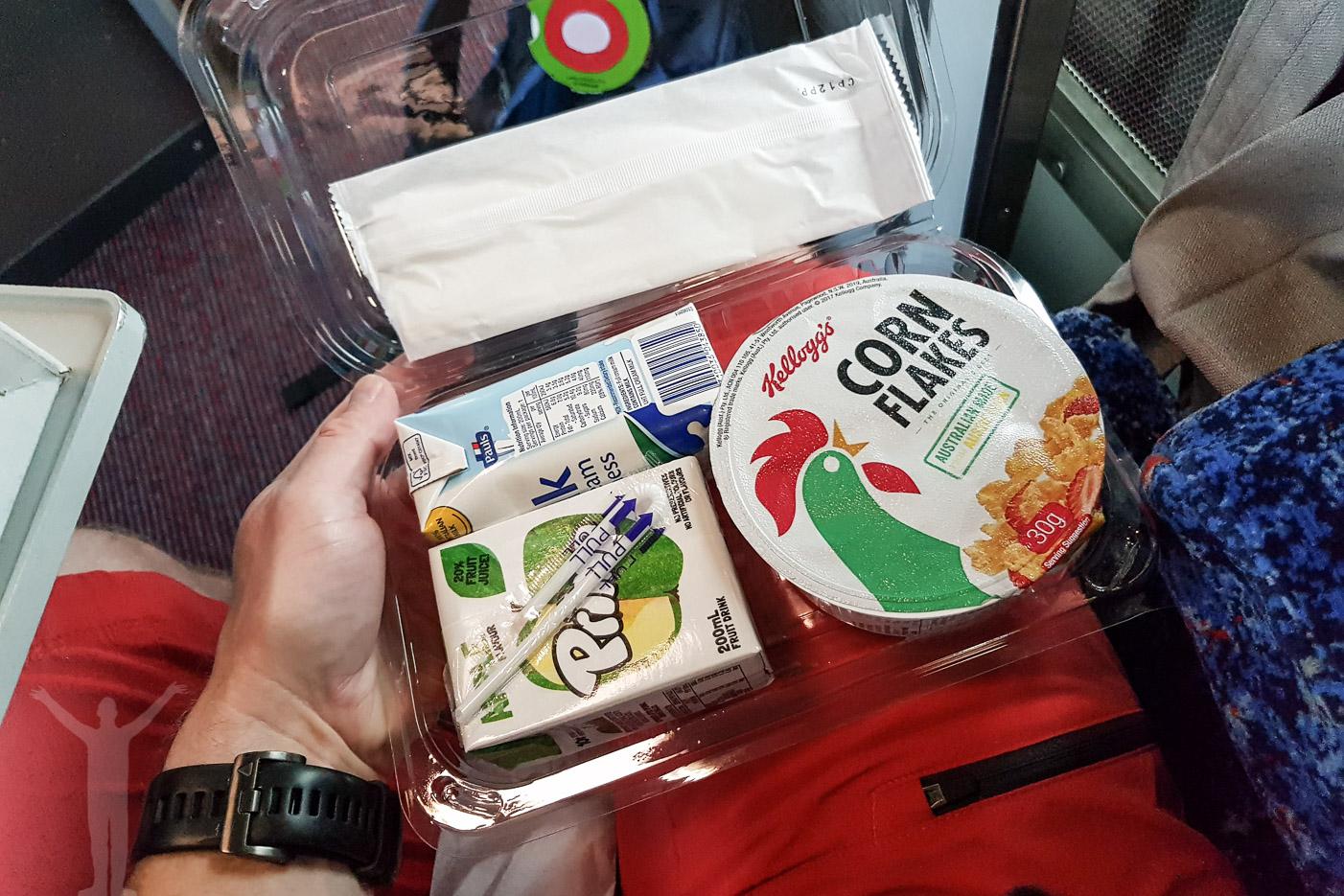 Frukost ingår på nattåg i Australien